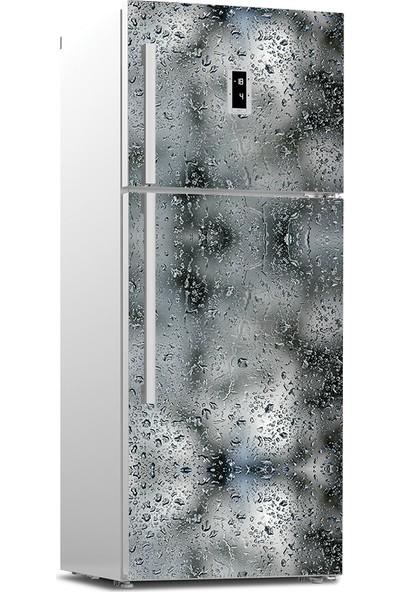 Tilki Dünyası Su Damlaları Buzdolabı Kapağı Kaplama Sticker 0144