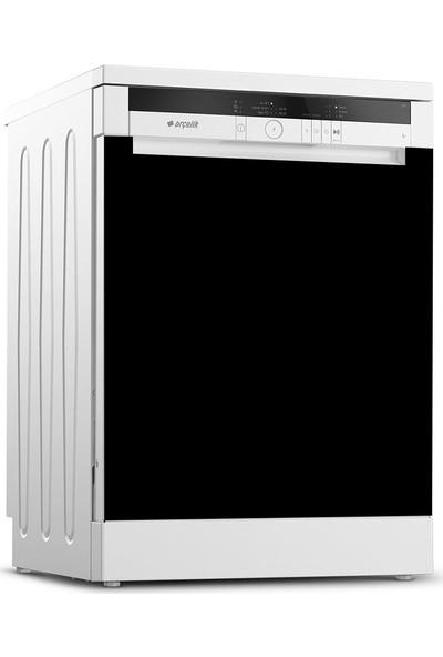 Tilki Dünyası Parlak Siyah Bulaşık Makinesi Kapak Sticker