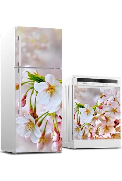 Tilki Dünyası Buzdolabı ve Bulaşık Makinesi Takım Sticker 0073