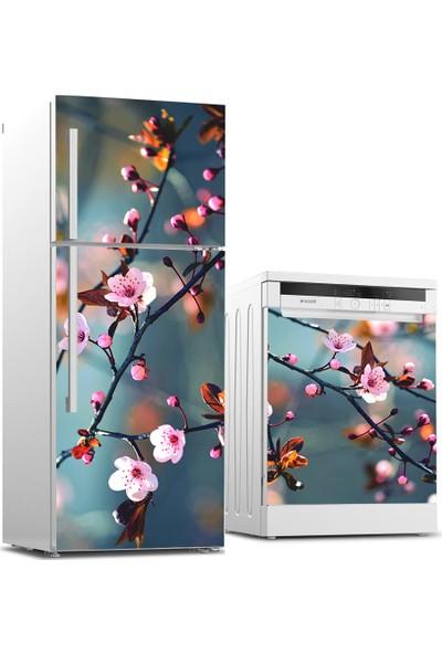 Tilki Dünyası Buzdolabı ve Bulaşık Makinesi Takım Sticker 0080