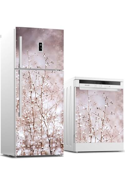 Tilki Dünyası Buzdolabı ve Bulaşık Makinesi Takım Sticker 0083