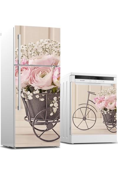Tilki Dünyası Buzdolabı ve Bulaşık Makinesi Takım Sticker 0084