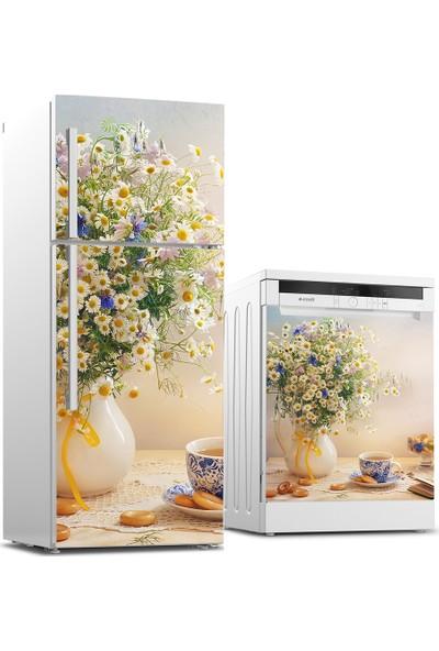Tilki Dünyası Buzdolabı ve Bulaşık Makinesi Takım Sticker 0101