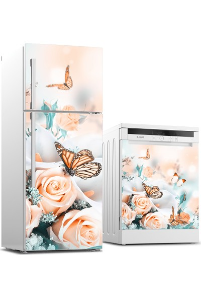 Tilki Dünyası Buzdolabı ve Bulaşık Makinesi Takım Sticker 0103