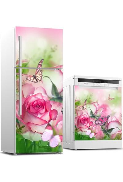 Tilki Dünyası Buzdolabı ve Bulaşık Makinesi Takım Sticker 0105