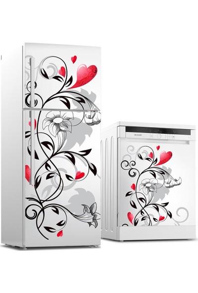 Tilki Dünyası Buzdolabı ve Bulaşık Makinesi Takım Sticker 0151