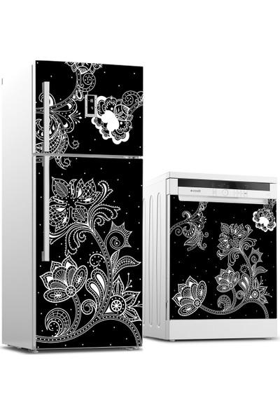 Tilki Dünyası Buzdolabı ve Bulaşık Makinesi Dantel Sticker