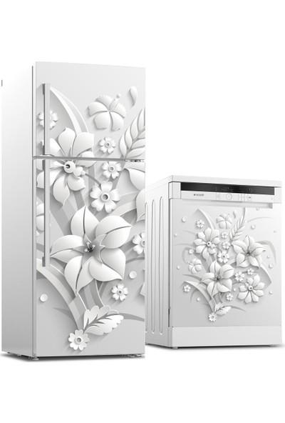 Tilki Dünyası Buzdolabı ve Bulaşık Makinesi Takım Sticker 0178
