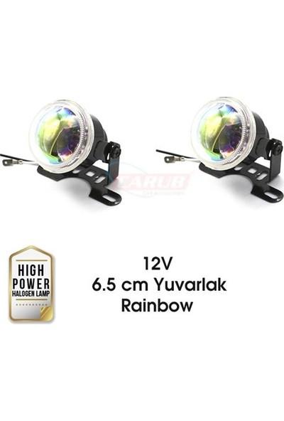 Carub Sis Lamba 12V 6.5 Cm Yuvarlak Rainbow