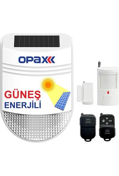 Opax Bgr-33 Güneş Enerjili (Solar) Sirenli Alarm Seti