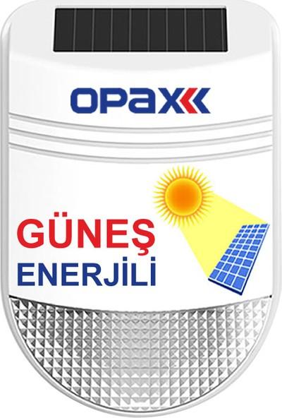 Opax Bgr-22 Güneş Enerjili(Solar) Kablosuz Harici Alarm Sireni (Kırmızı / Mavi / Polis)