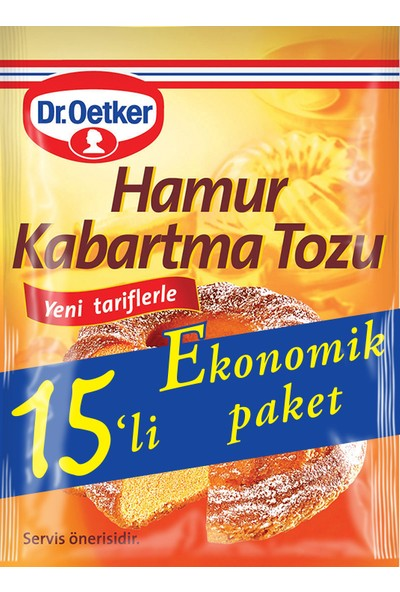 Dr.Oetker Hamur Kabartma Tozu 15'li 150 gr