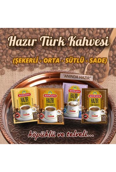 Altıncezve Hazır Türk Kahvesi Ofis Seti 10lu Bardaklı Sade