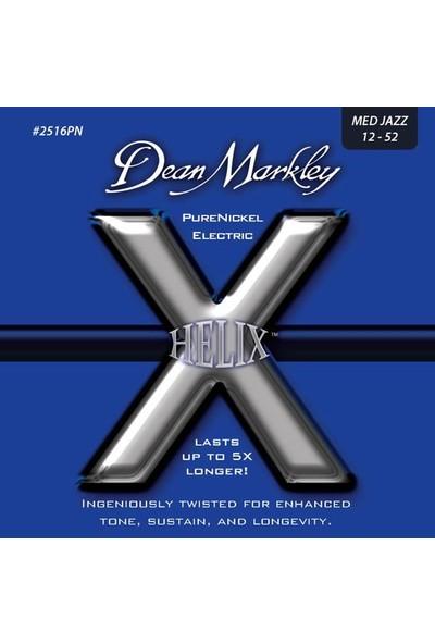 Dean Markley Helix Pure Nickel - Med Jazz Takım Tel Elektro Gitar Teli 012-052