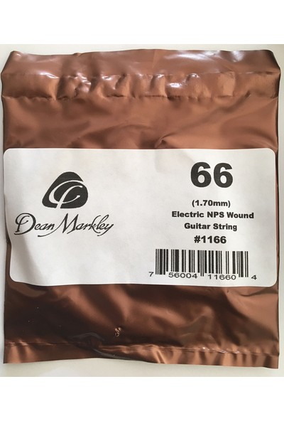Dean Markley Wound Single 1166 - 066 Elektro Gitar Tek Tel (Sarımlı)
