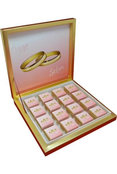 Navrem Nişan Nikah Söz Düğün Çikolatası Yüzük Konsepti 48 Kutulu