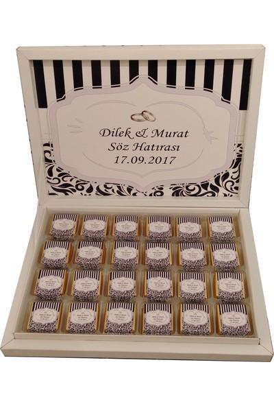 Navrem Nişan Nikah Söz Düğün Bohça Çikolatası 72 Kutulu