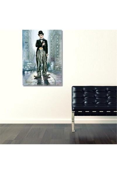 Modern Tablo BKM SANAT Charlie Chaplin Kanvas Tablo