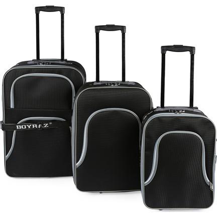 b166c14efbb17 Boyraz Valiz Seti 3'Lü Tekerlekli Kaliteli Valiz,Seyehat Çantası, Çekçekli  Bavul Seti