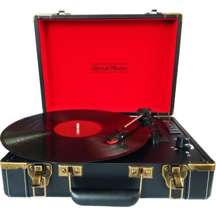 f760f9375f893 Record Master Vintage Şarjlı Pikap, Plak Çalar - 33 - 45 - 78 Devir