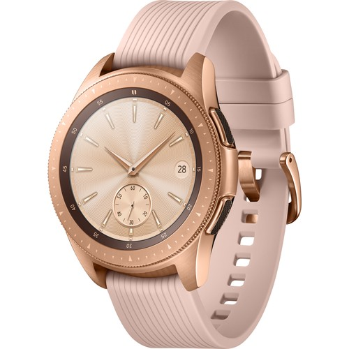 Samsung Galaxy Watch (42mm) (Android ve iPhone Uyumlu) Pembe/Altın - SM-R810NZDATUR (Samsung Türkiye Garantili)