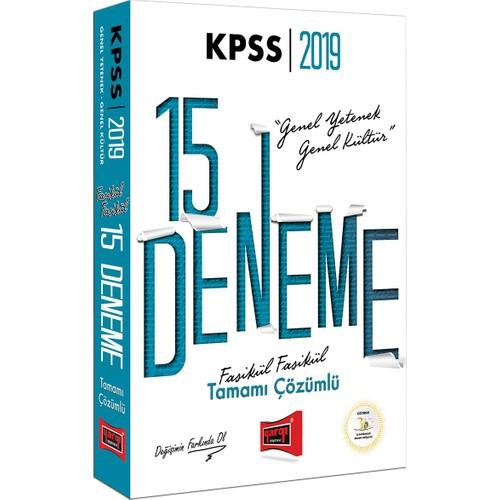 Yargı Yayınevi 2019 KPSS Genel Yetenek Genel Kültür Fasikül Fasikül Tamamı Çözümlü 15 Deneme