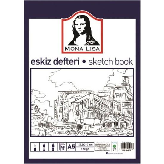 Mona lisa Eskiz Defteri A5 50 Yaprak