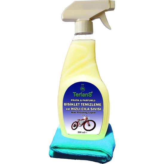 Terlans Bisiklet Hızlı Cila Temizlik ve Boya Koruma Parfümlü 500 ml + Mikrofiber Bez