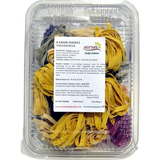 Asudan Doğal Gıdalar Karışık Sebzeli Taglıatelle 300 gr