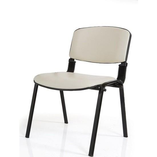 Coşkun Büro/21 Krem-Deri Form Sandalye