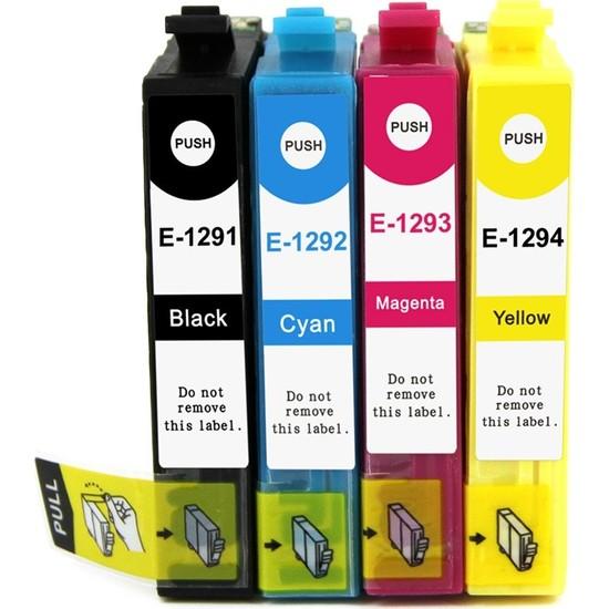 Premium® Epson Stylus SX235W Uyumlu 4 Renk Muadil Kartuş Seti