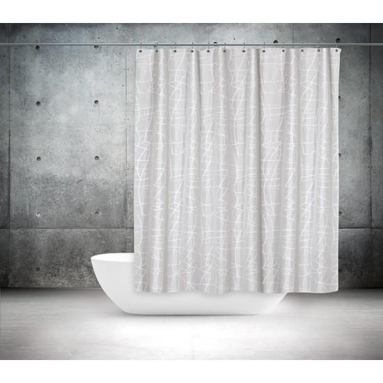 Zethome Tropik Banyo Duş Perdesi 3182 Çift Kanat 2x120x200