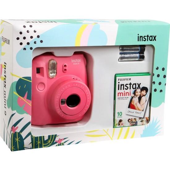 Fujifilm Instax Mini 9 Mini Kit - Pembe