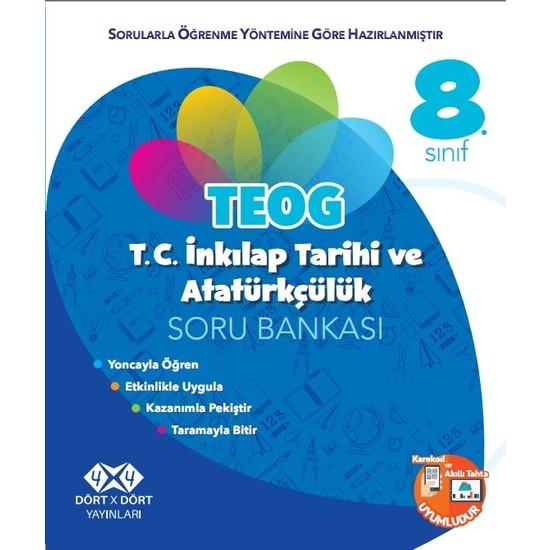Dört X Dört Yayınları 8.Sınıf İnkılap Tarihi Soru Bankası