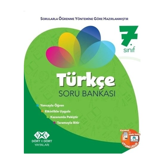 Dört X Dört Yayınları 7.Sınıf Türkçe Soru Bankası