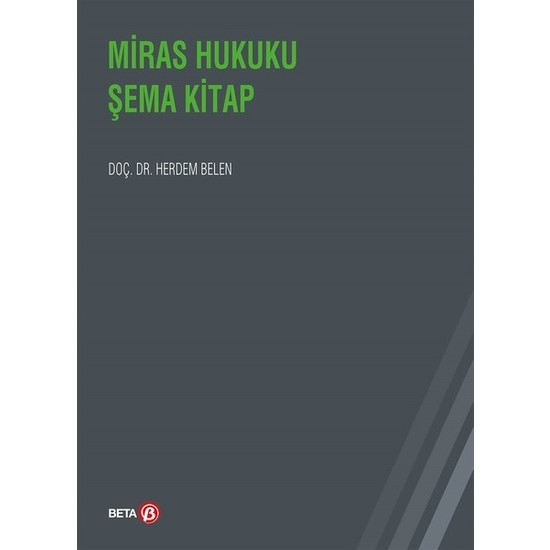 Miras Hukuku Şema Kitap - Herdem Belen
