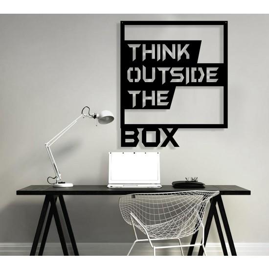 Homecept Ahşap Think Outside The Box Duvar Panosu