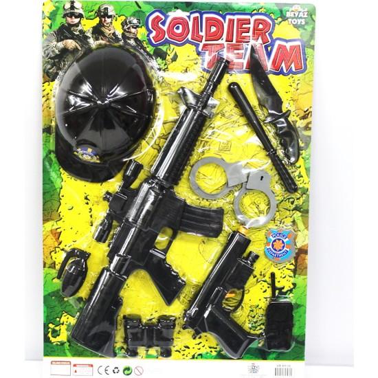 Beyaz Toys Askeri Silah Seti 2'li