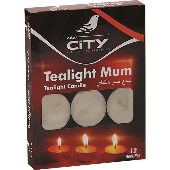 New City Tealight Mum 12 Li