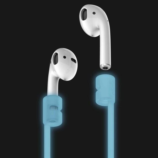 Elago Apple Airpods Strap Kulaklık Ektsra Boyun Askısı Night Glow - Fosforlu