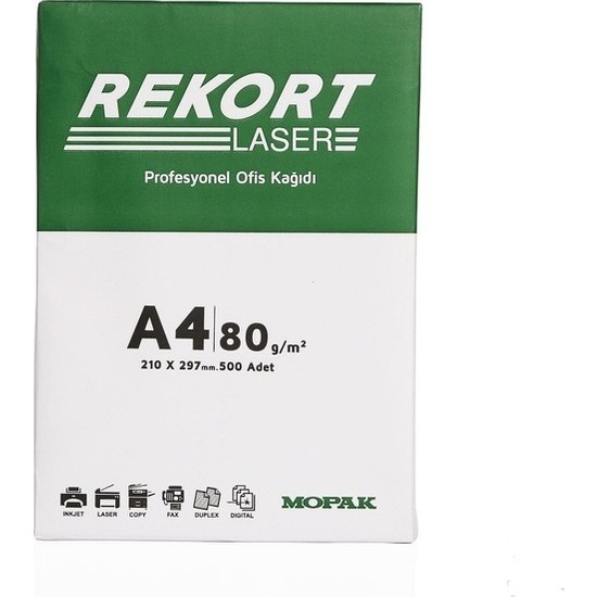 Mopak   Rekort A4 80 Gr 500 Lü Fotokopi Kağıdı