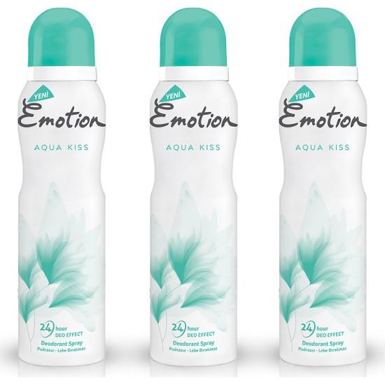 Emotion Aqua Kiss 3'lü Kadın Deodorant (3 x 150 ml)