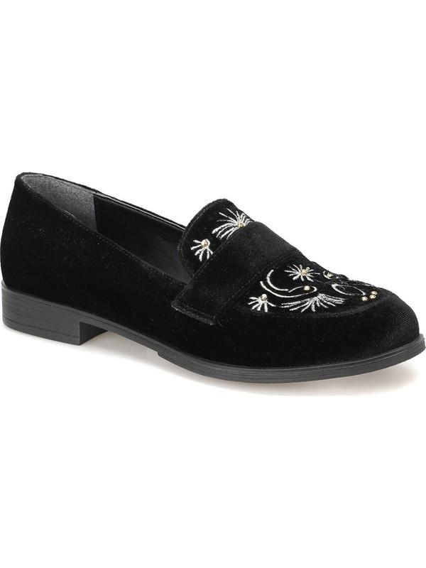 Miss F Dw18022 Siyah Kadın Loafer Ayakkabı