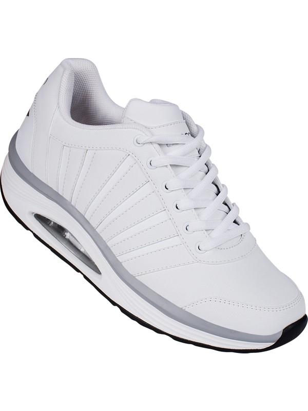 Lescon L 6118 Beyaz Bayan Easystep Spor Ayakkabi Fiyati