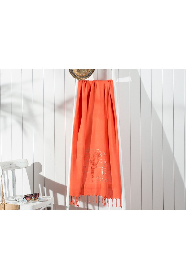 Madame Coco-linked Perroquet Printed Beach Towel 80x150 cm