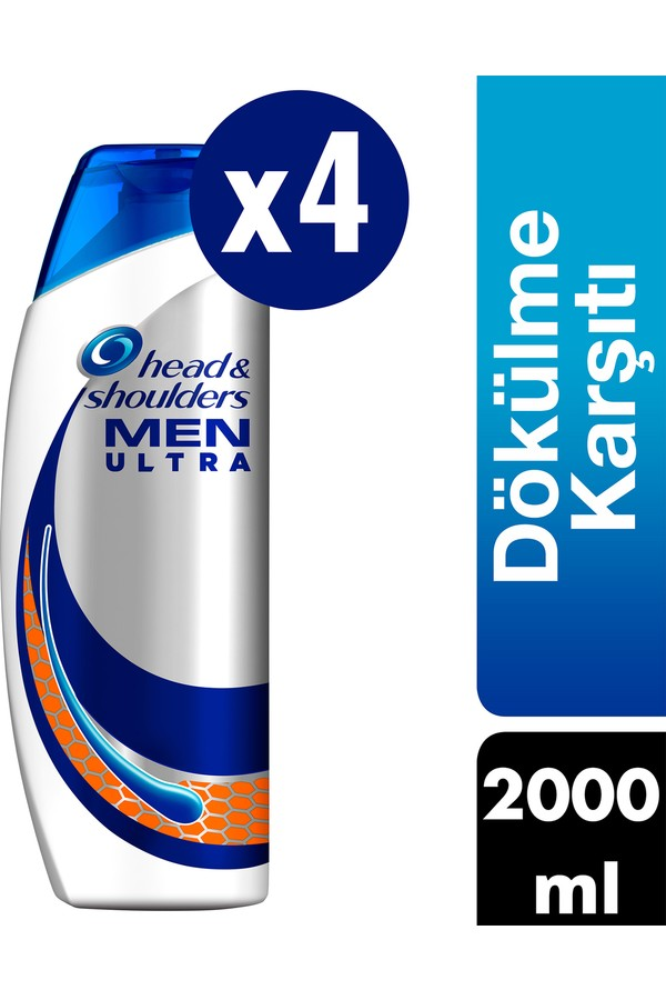 Head & Shoulders M to 4 x 500 ml Ultra Men against specific shampoo Hair Loss