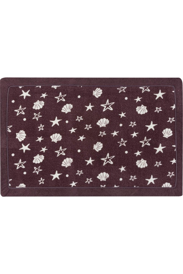 Madame Coco Dark Purple Bath Mat
