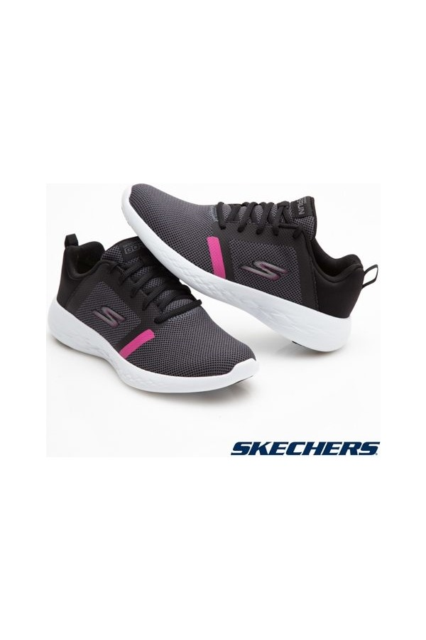15069 Skechers Go Run 600 Women's Sports Shoes Black White