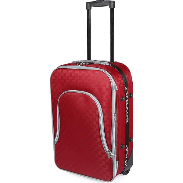 28b46d6bfcb8c Boyraz Orta Boy Tekerlekli Valiz Seyehat Çantası,Çekçekli Bavul (Kırmızı) -  Kırmızı Ürün
