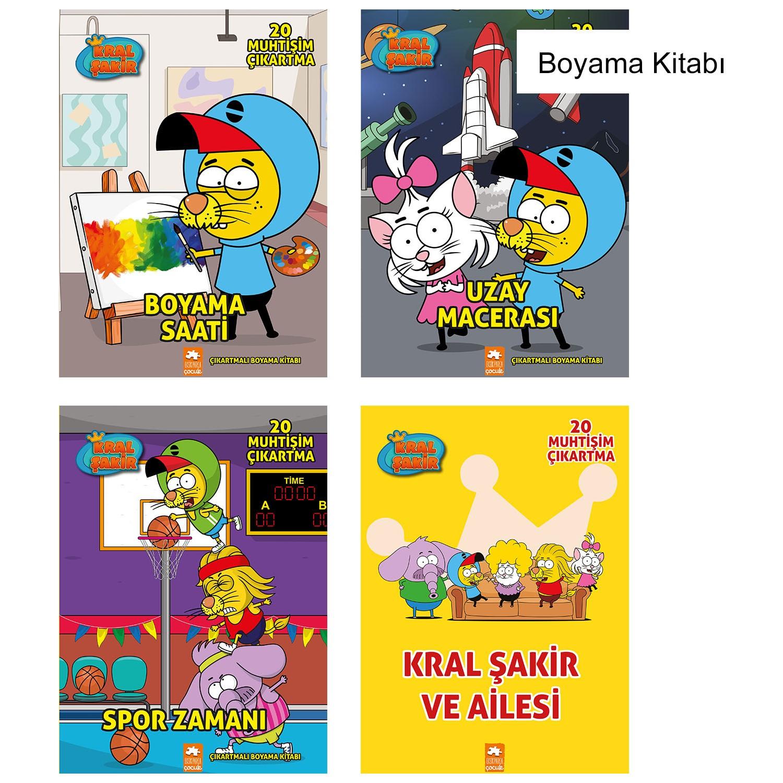 Kral Sakir Boyama Set 4 Kitap Fiyati Taksit Secenekleri